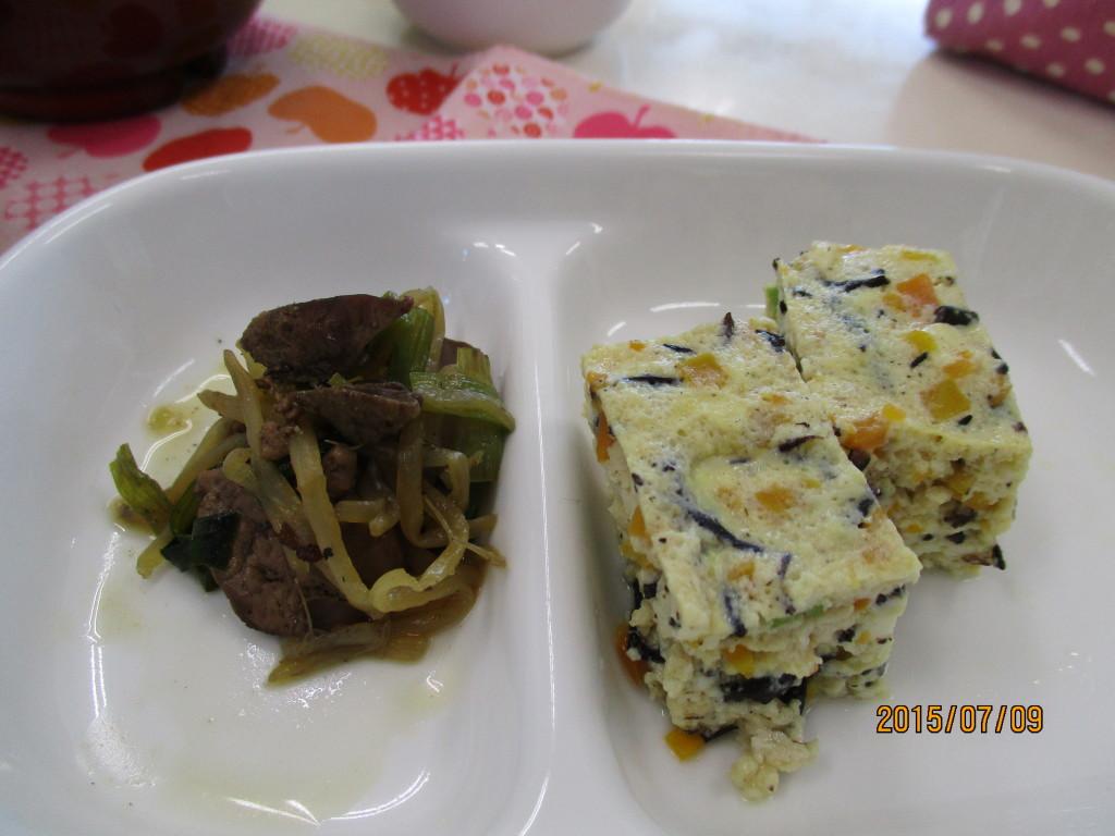 擬製豆腐&レバニラ炒め