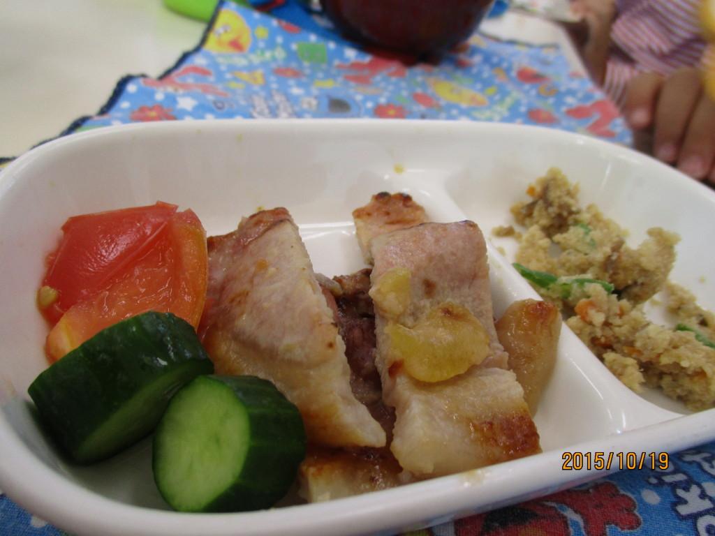 豚肉の味噌漬け焼き&卯の花