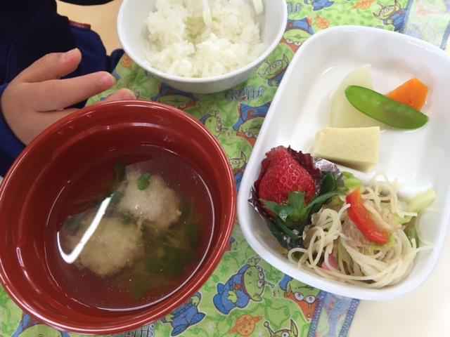 高野豆腐の含め煮&炒めビーフン・れんこん団子の清汁