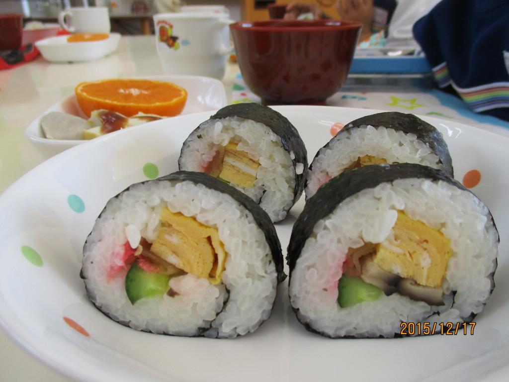 巻き寿司&田楽風・麩とみつ葉の清汁