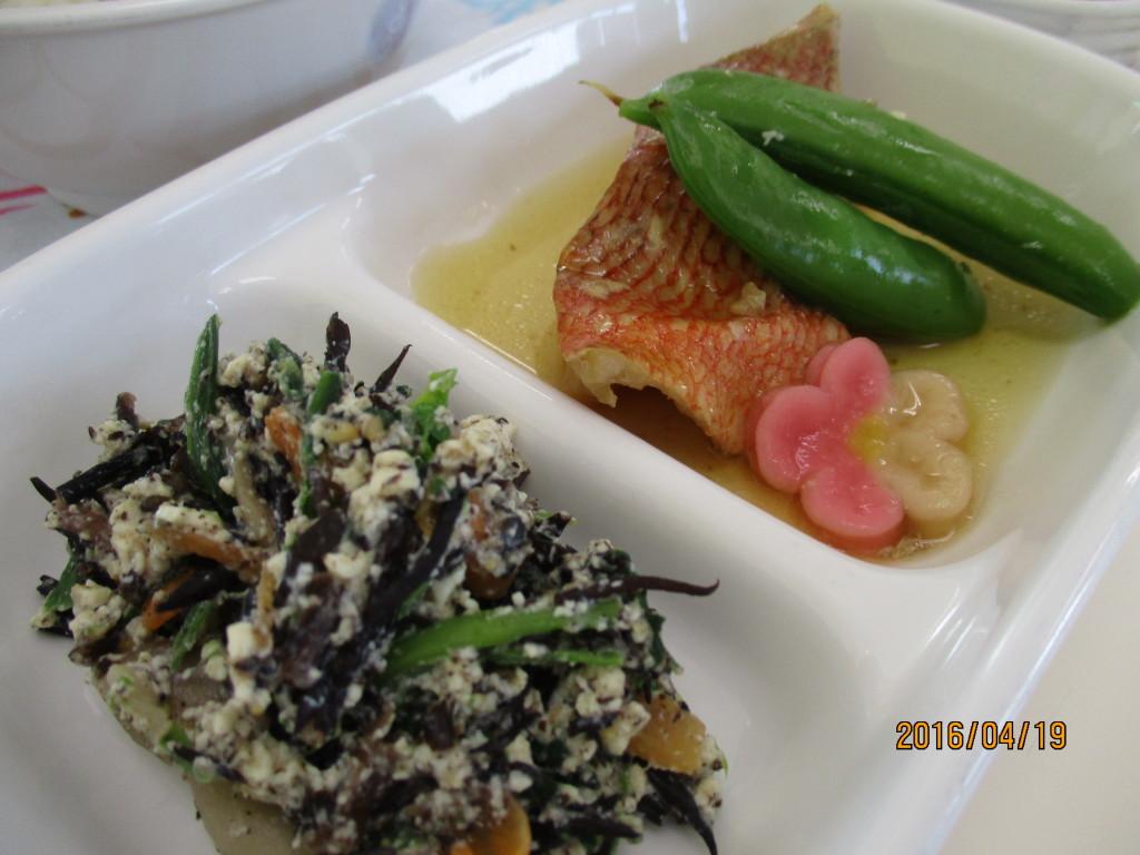 赤魚の生姜煮&ほうれん草とひじきの白和え